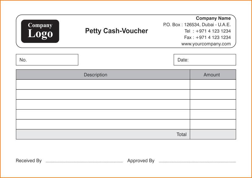 petty cash voucher